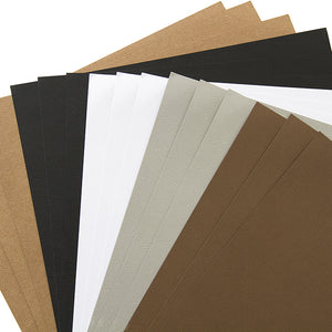 Five colors of Wood Grain cardstock from American Crafts