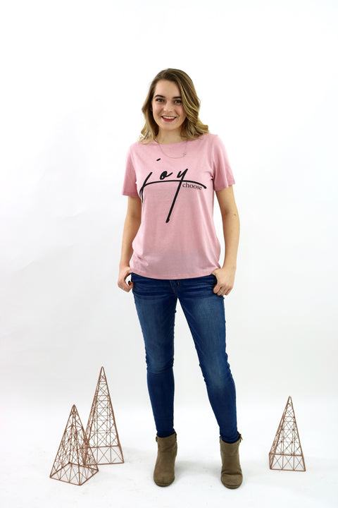 Choose Joy Pink Tee