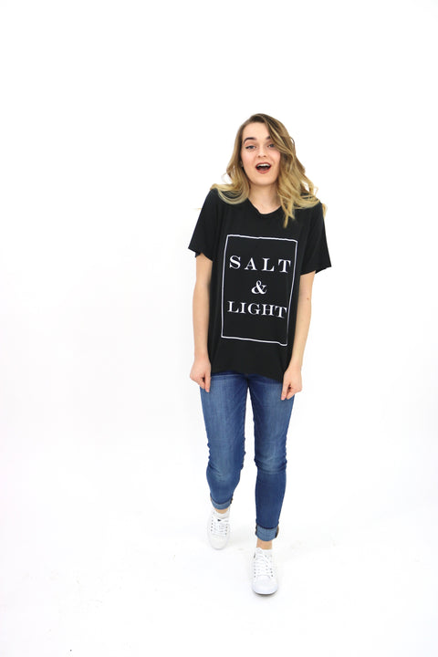 Salt & Light Black  short sleeve T-Shirt
