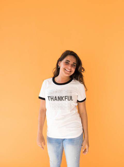 Thankful Ringer Tee
