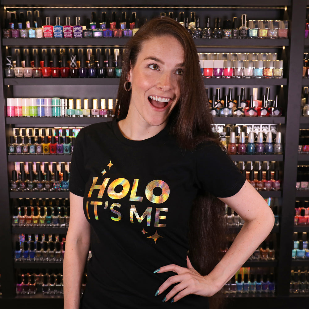Holo Its Me - Gold Holo - Ladies T-Shirt Black