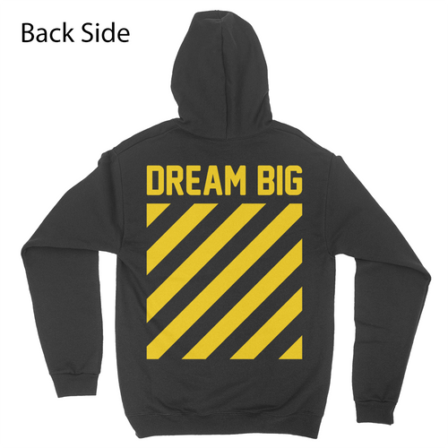 Dream Big - Yellow - Unisex Pullover Hoodie