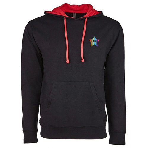Drippy Star - Embroidered Premium Two-Tone Hoodie