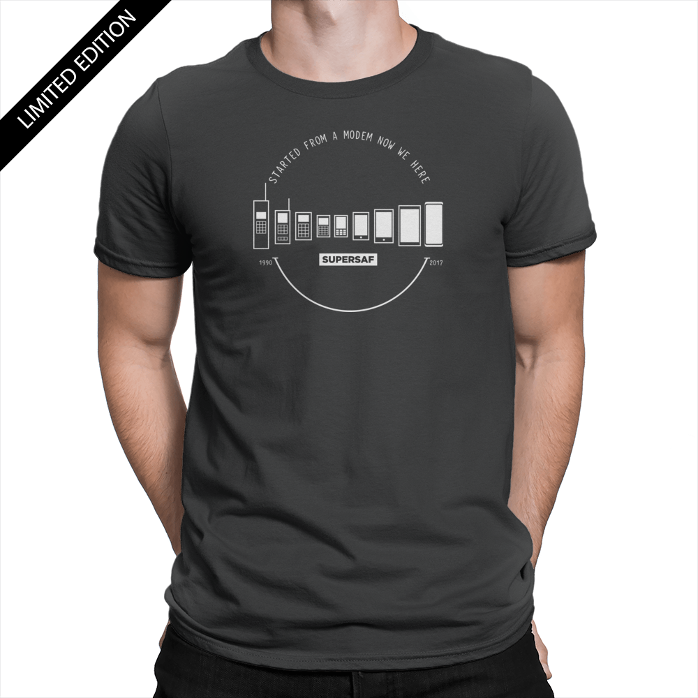 Limited Edition Mobile Evolution - Unisex T-Shirt Black