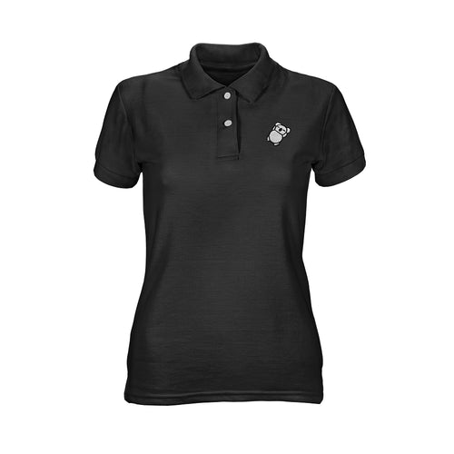 Fat Koala Ladies Polo Black