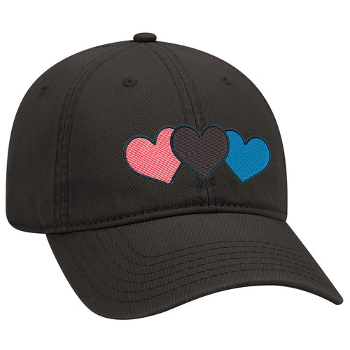 Triple Hearts - Embroidered Dad Hat