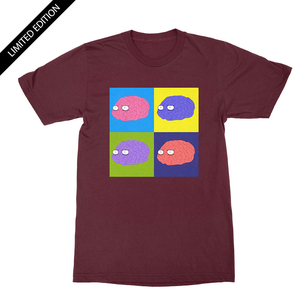 Brainy Pop Art - Limited Edition Unisex Shirt Maroon