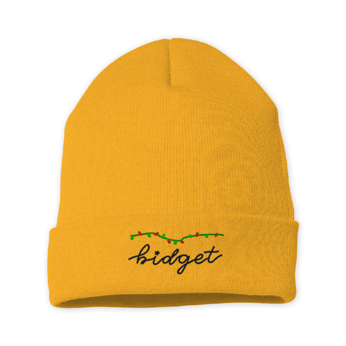 Bidget Holiday Beanie (Black Thread)