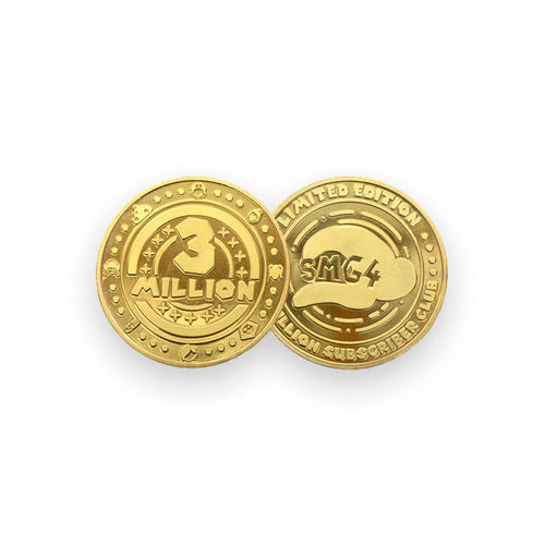 Limited Edition - 3 Million Subscriber Club Coin