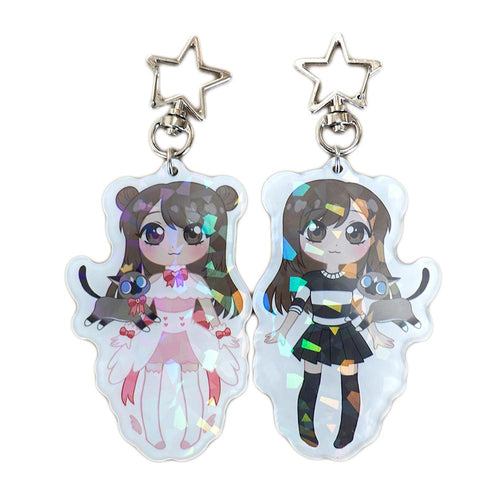 Emirichu Magical Girl Holographic Keychain