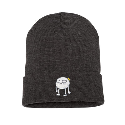 Blob - Embroidered Beanie Dark Grey