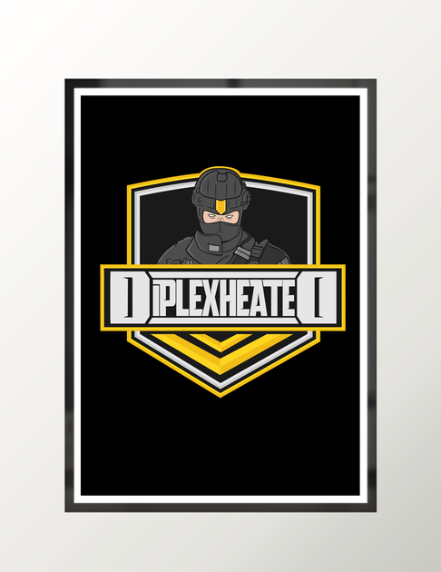 Diplex Heated Logo w Text -  Poster