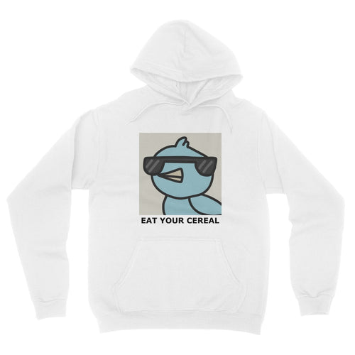 Eat Your Cereal White Hoodie
