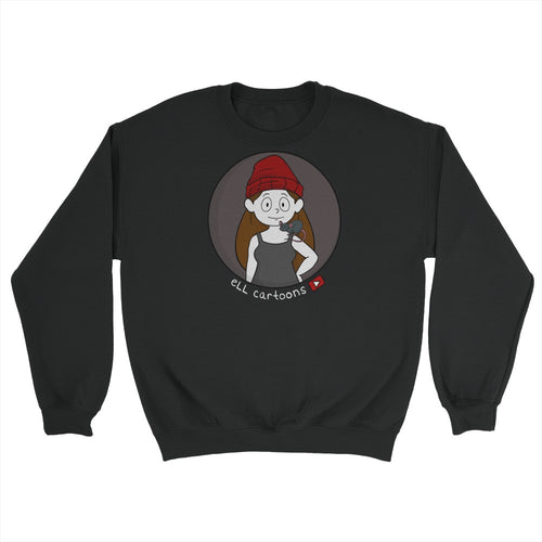 Ell Cartoons Black Soft Sweater