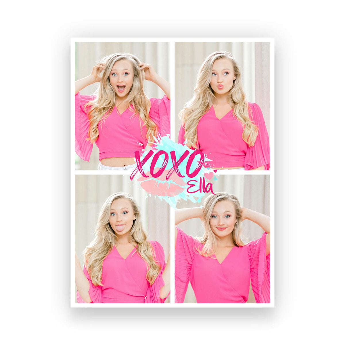 XOXO Ella Collage Poster