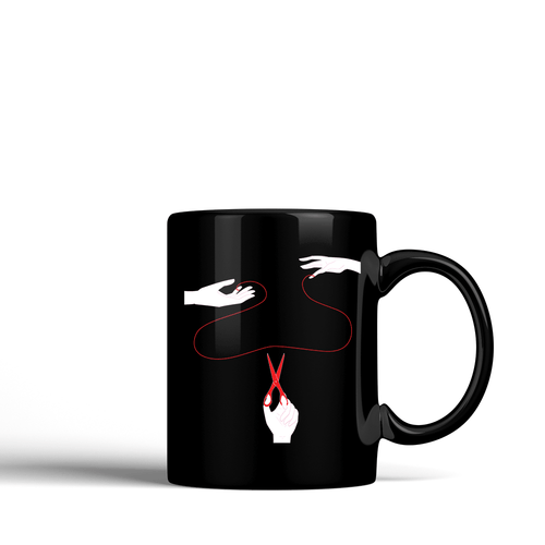 The Red String of Fate -  Ceramic Mug