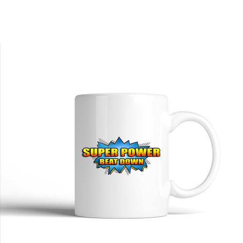 Super Power Beat Down -  Ceramic Mug