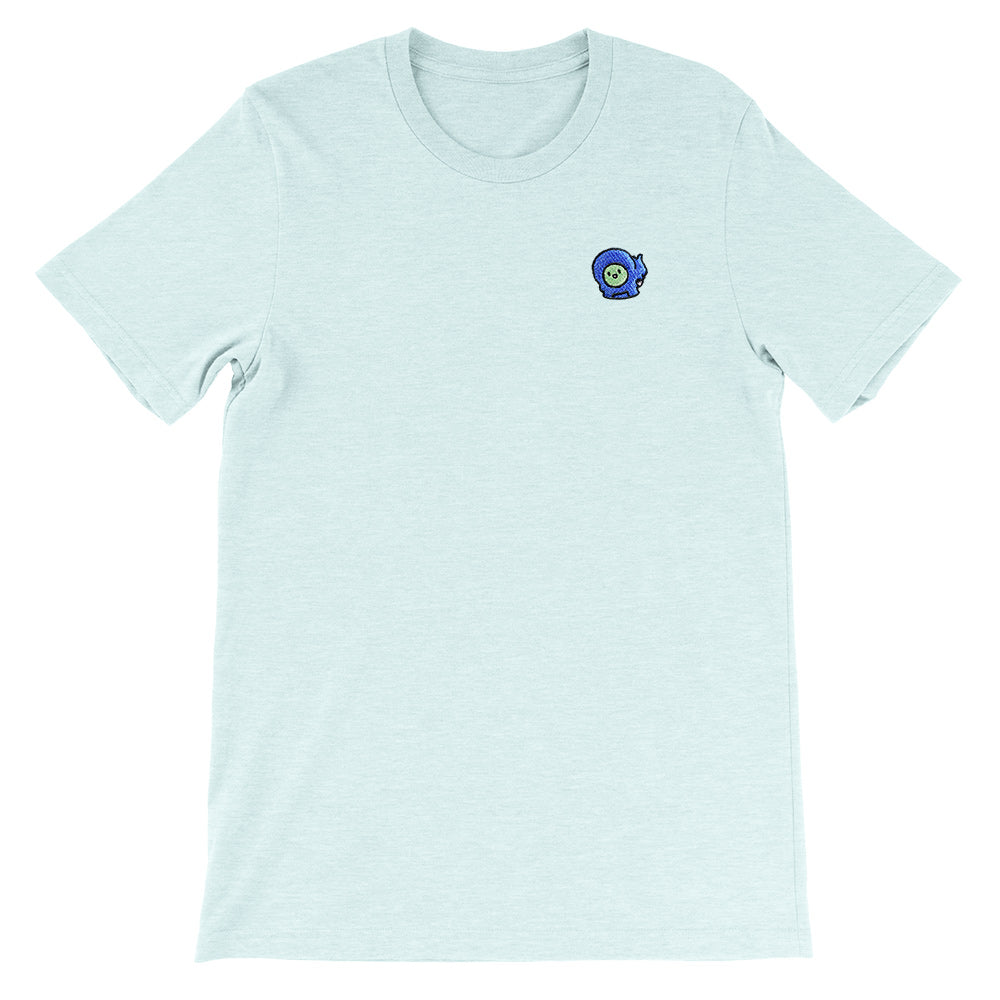 Gingerpale Icon Embroidered T-shirt Heather Prism Ice Blue