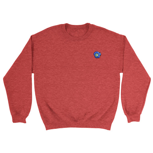 Gingerpale Embroidered Sweatshirt Heather Scarlet