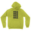 MarMar Stacked - Unisex Pullover Hoodie Safety Green