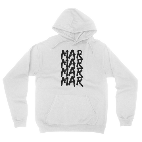 MarMar Stacked - Unisex Pullover Hoodie White