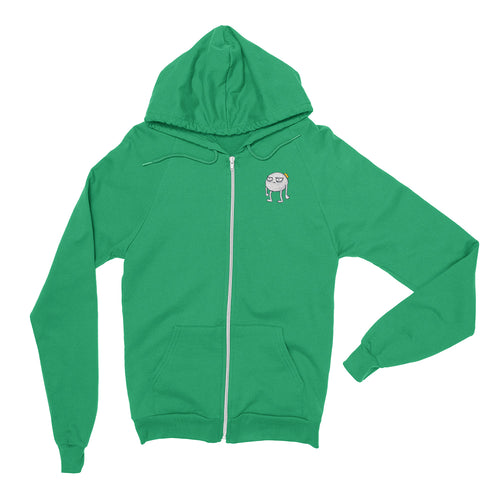 Blob - Embroidered Zip Hoodie Irish Green