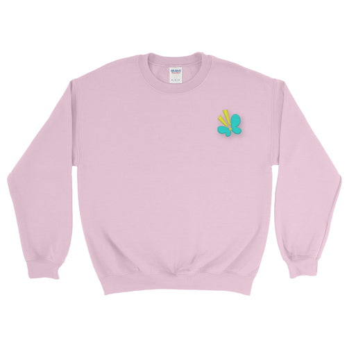 Butterfly Embroidered Sweatshirt