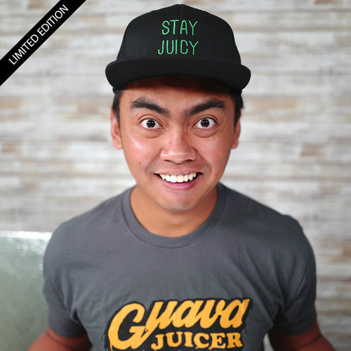Limited Edition - Stay Juicy Flexfit Black Snapback Hat