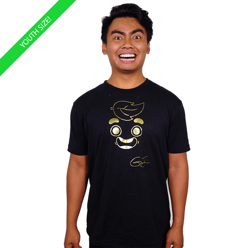 Guava Juice Signature Gold Foil - Kids Youth T-Shirt Black