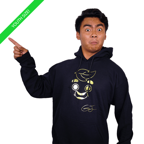 Guava Juice Signature Gold Foil - Kids Youth Hoodie Black