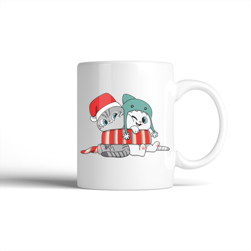 Nala and Coffee Snuggle Scarf Holiday Mug