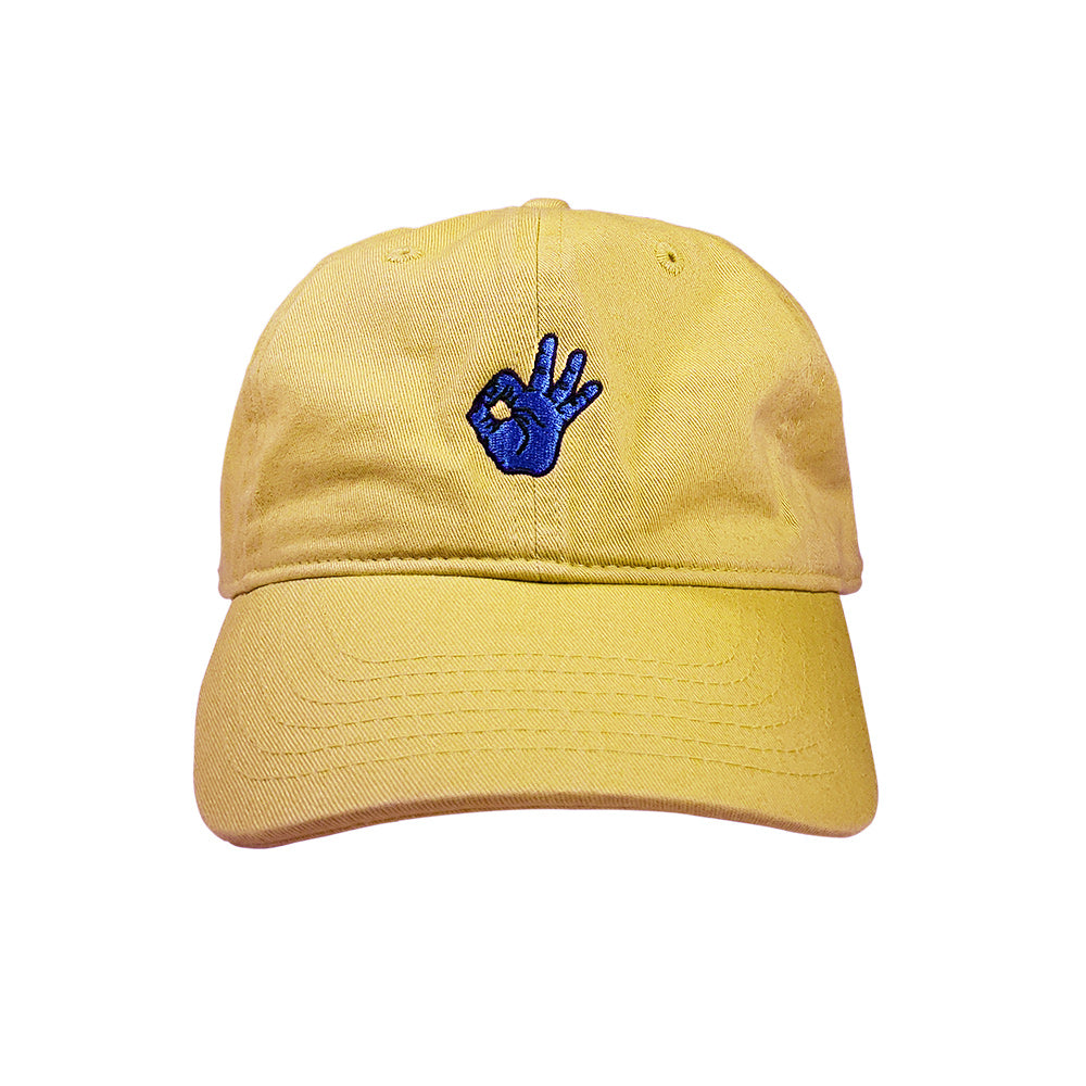 gingerpale ok hand dad hat crowdmade