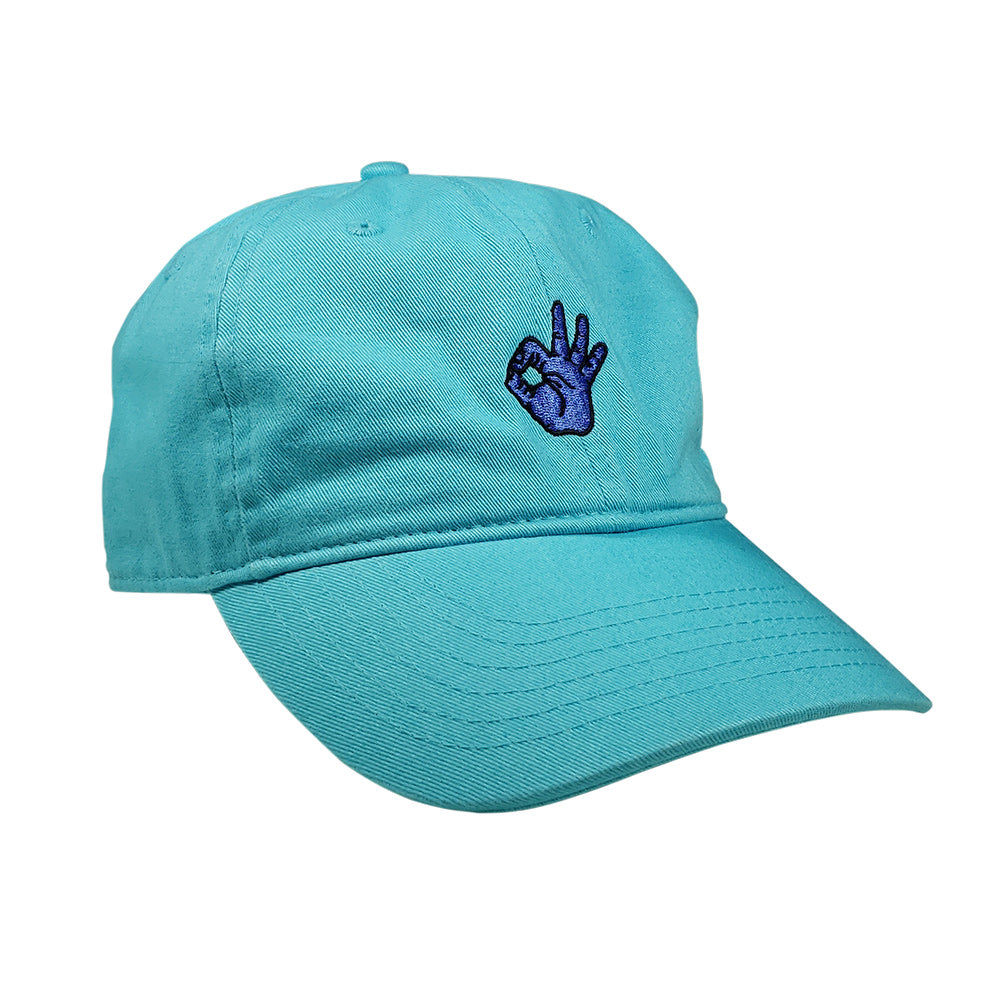 Gingerpale OK Hand Dad Hat Lagoon Blue