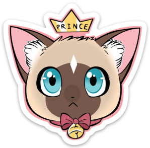 Prince - Die Cut Sticker White