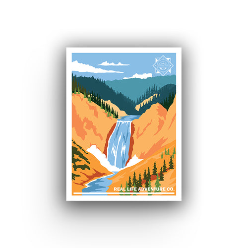 Retro Parks - Yellowstone Glossy Poster