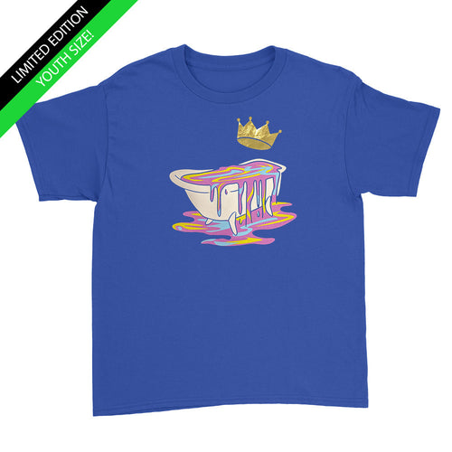 Limited Edition - Gold Crown Bathtub - Kids Youth T-Shirt