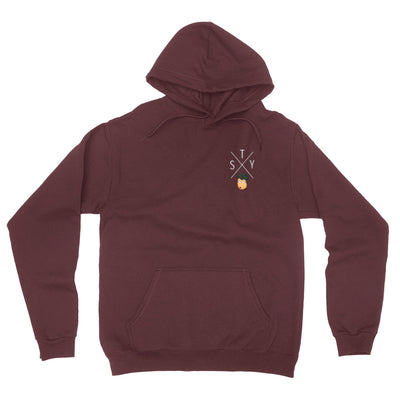 SagaTheYoungin STY Cross Embroidered Hoodie