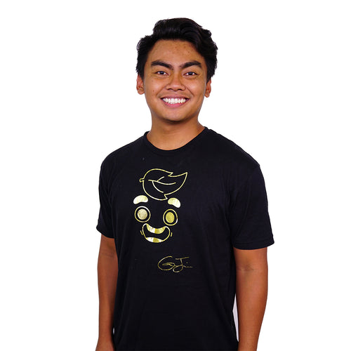 Guava Juice Signature Gold Foil - Unisex T-Shirt Black