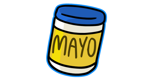 Mayo Jar Sticker