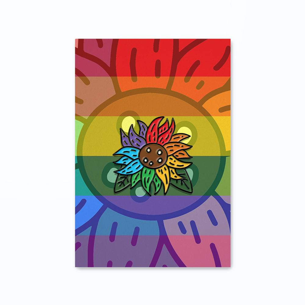 That Midget Asian Pride Sunflower Enamel Pin
