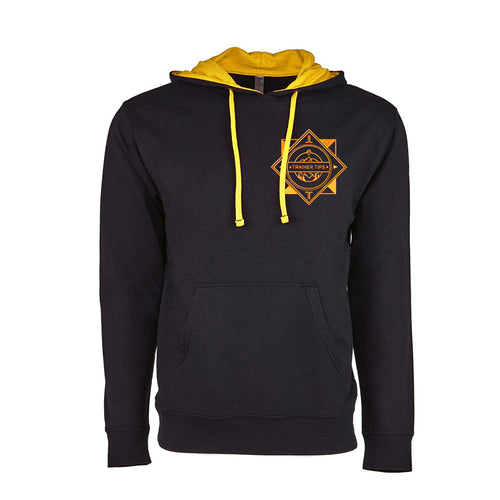 Team Hoodie - Yellow - Premium Embroidered Two-tone Hoodie