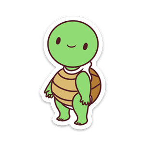 Turtle Amigo - Die Cut Sticker White