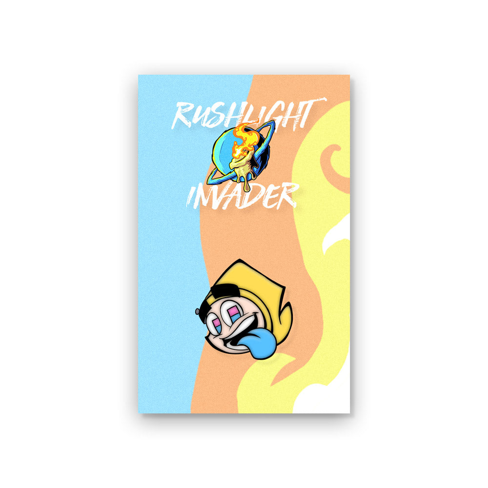 RushLight Invader Rush Enamel Pin
