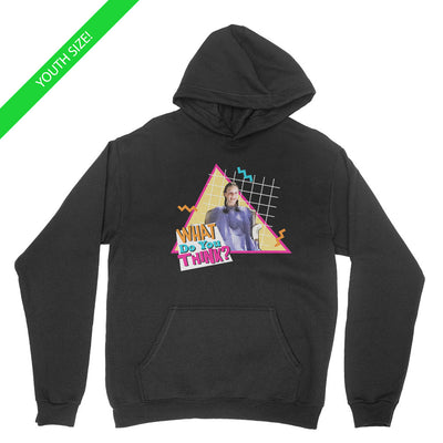 What Do You Think - Kids Youth Hoodie Black