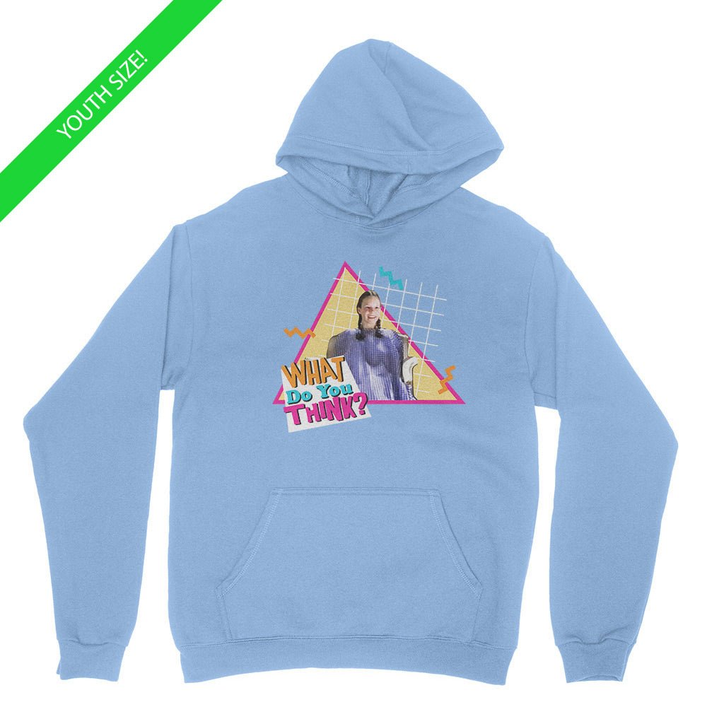 What Do You Think - Kids Youth Hoodie Light Blue