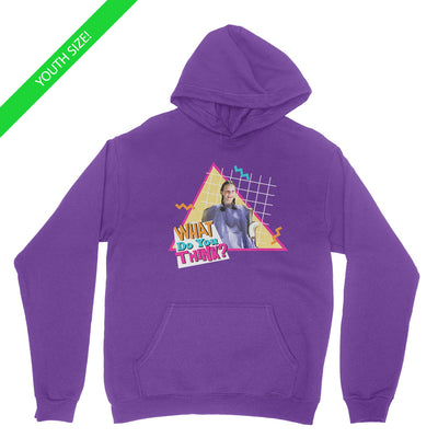 What Do You Think - Kids Youth Hoodie Purple