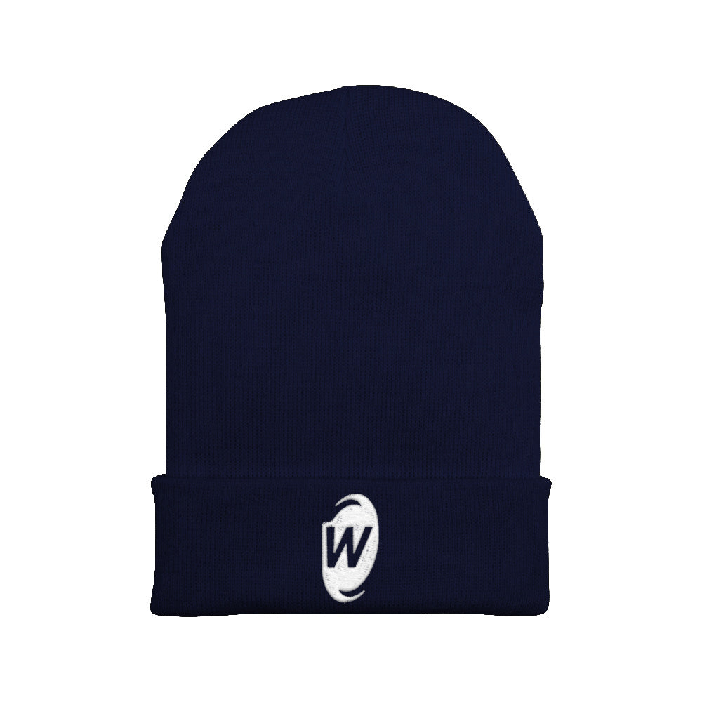 Warp World W Emblem Embroidered Beanie