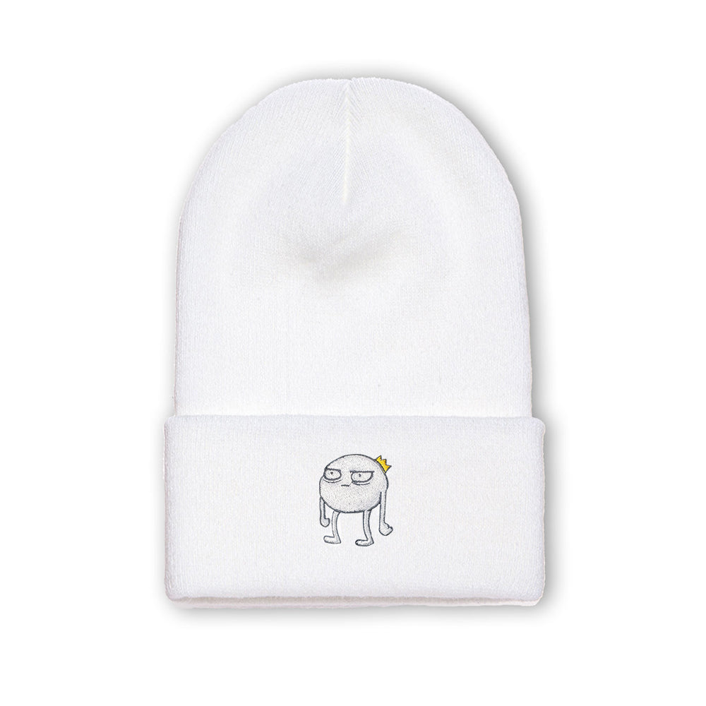 Blob - Embroidered Beanie White