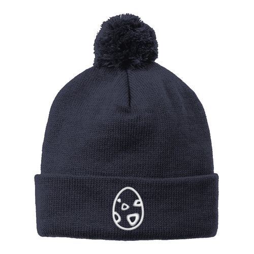 Zoetwodots Egg Holiday Beanie (White Thread)