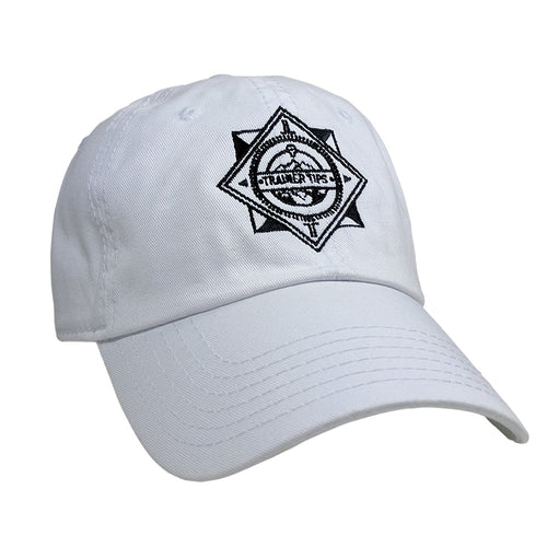 Trainer Tips Logo Dad Hat White